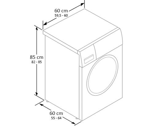 dimensiunile masinii de spalat rufe cu incarcare frontala