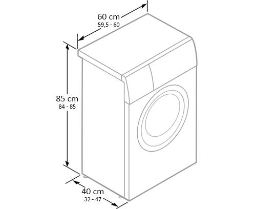 dimensiunile masinii de spalat slim subtiri cu incarcare frontala