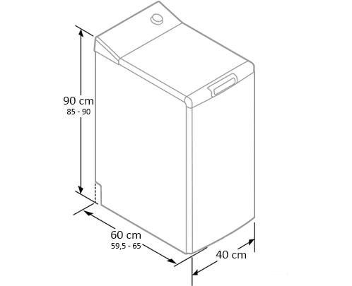dimensiunile masinii de spalat rufe cu incarcare verticala