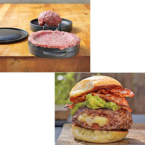 presa hamburgeri umpluti