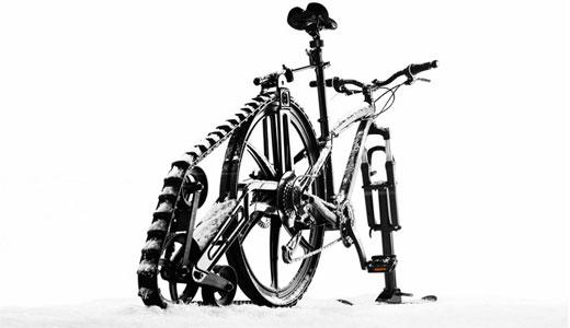 senile biciclete iarna