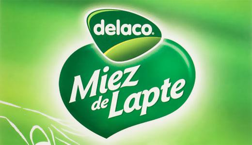 logo Delaco miez de lapte