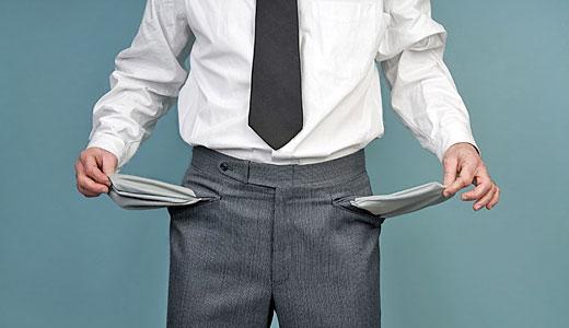 insolventa, faliment, buzunare goale