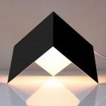 Lampa cu abajur cubic