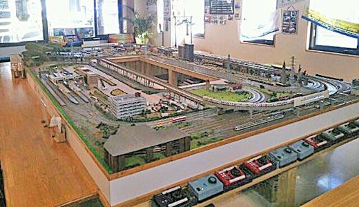 Diorama cale ferata miniatura la cafenea