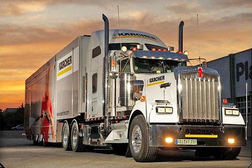 Caravana Karcher camion american Mack Truck
