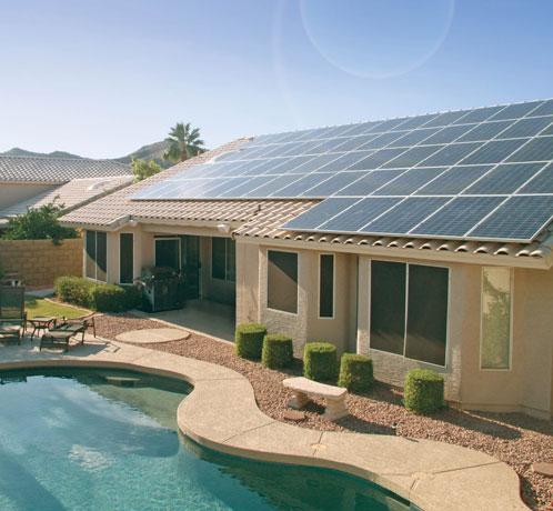 Acoperis casa panouri solare fotovoltaice