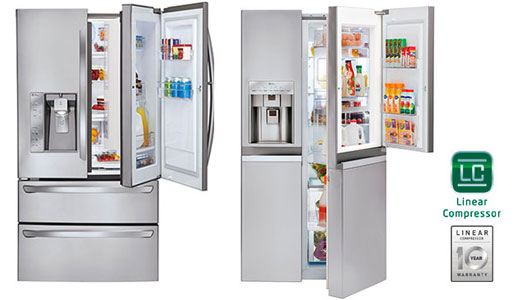 Combine frigorifice LG cu usa dubla door-in-door