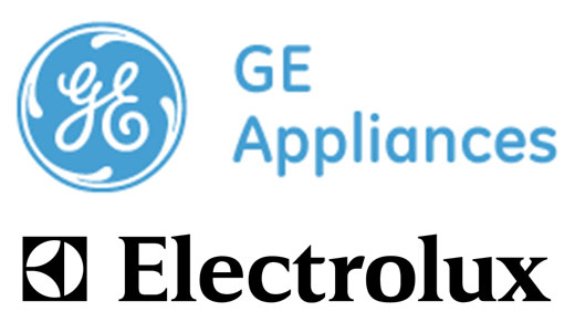 Logo Electrolux si General Electric Appliances sigla