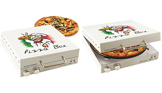 mic cuptor electric de pizza in forma de cutie de pizza